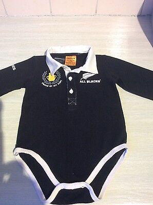 All Blacks baby shirt 12-18 mths Rugby World Cup New Zealand cotton