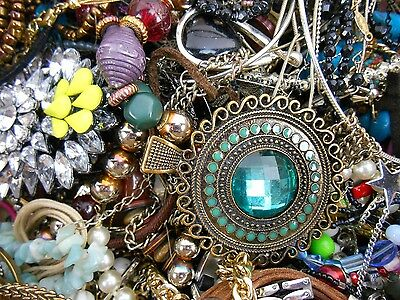 19lbs Jewelry Vintage New Antique to Wear or Repair Mixed Lot