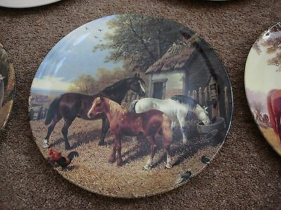 VGC! Royal Doulton Ltd Edition Horse Plate & Hanger Visiting the Farmyard 4588A