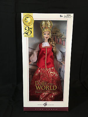 Barbie Dolls of the World 25th anniv Princess of Imperial RUSSIA Doll MIB
