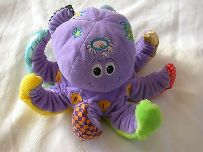 Vintage Octopus Activity Soft Plush Baby Rattle Toy