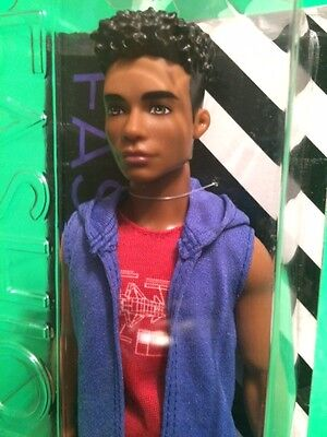 Hip Hop AA African American Ken Doll Handsome Hottie Contemporary Afro Hair NRFB