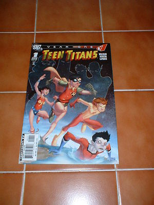 Teen Titans ; Year One 1 (Of 6).  Nm- Cond. Mar 2008  Dc Comics.