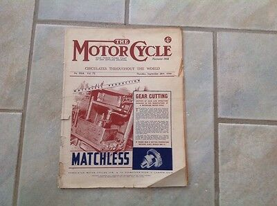 THE MOTORCYCLE MAGAZINE SEPT 28th 1944 WARTIME