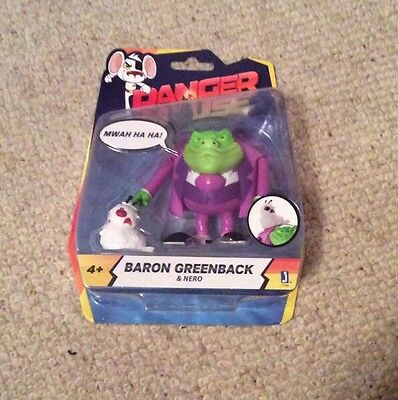 Danger Mouse Baron Greenback & Nero Figure Age 4+ BNIB