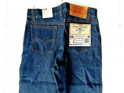 VTG Levi Strauss & Co. Student Fit Straight Leg Jeans Deadstock USA / 28 x 30