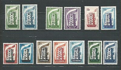 Europa Cept 1956 Año Completo Yearset Année Complete Mnh**