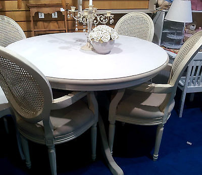 Lovely Heavy Farmhouse Painted Antique Pine Dining Table (NO CHAIRS)