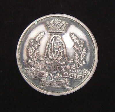 99th Duke of Edinburghs Regt of Foot Officers Mess Waiters large Silvered Button