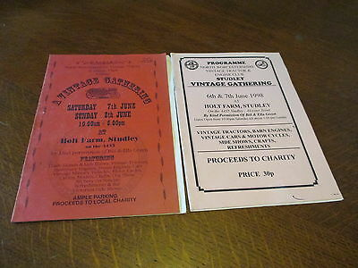 15 Assorted Steam And Vintage Tractor & Engine Club Programmes From The Midlands