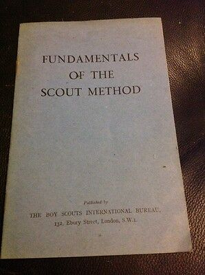 Fundamentals Of The Scout Method Vintage Scout Booklet