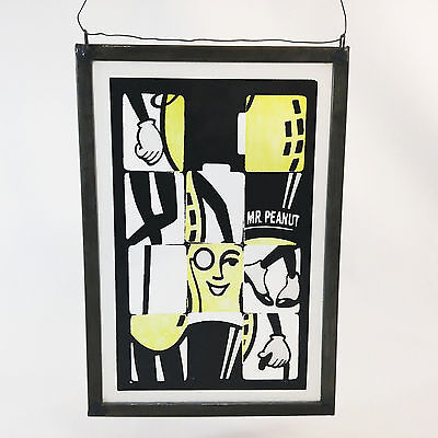 Planters Peanuts Painted Glass Wall Art