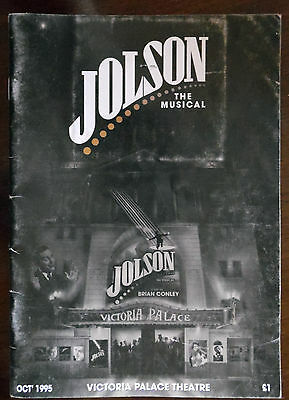 Jolson The Musical, Victoria Palace Theatre London,Programme Oct 1995
