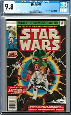 STAR WARS #1 CGC 9.8 1st ISSUE AWESOME KEY ISSUE 1977 MORE MOVIES COMING