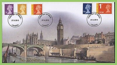 G.B. 2013 definitives & signed for on Buckingham First Day Cover, London