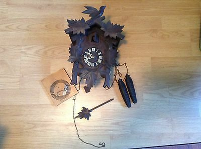Antique German Black Forest Cuckoo Clock for Parts