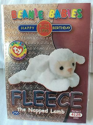 TY Beanie Babies Trading Card Series 2 Fleece the Napped Lamb Silver