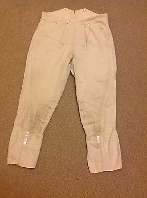 mens hunting breeches 32 waist white good condition