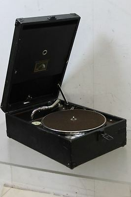 HMV Model 101 Portable Gramophone c. Late 1920's Without Crank / Winding Handle