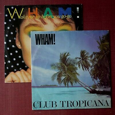"""WHAM! - """"Wake Me Up Before You Go-Go"""" and """"Club Tropicana"""" (2x12"""" singles in PS)"""