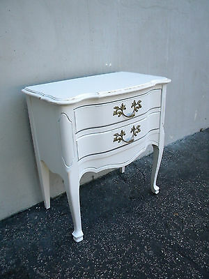 Shabby Chic French Distressed Painted Nightstand / End Table 5819