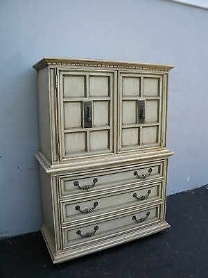 Mid-Century Hollywood Regency Tall Painted Chest on Chest By Link-Taylor 3024