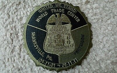 """FBI 9-11 """"Subdued"""" police patch (United We Stand) **GMAN** WTC, Pentagon, PA!!"""
