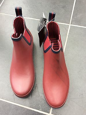 BRIERS Chelsea Boots Rubber Ankle Wellies | Colour = Claret | Size 7 | FREE POST