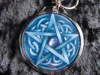 Pentacle Tree of Prosperity Circular Keyring NEW