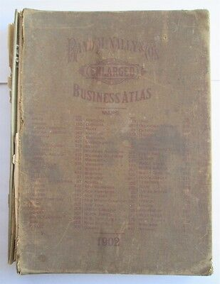 1902 Rand McNally - Business Atlas - Enlarged - RR Systems - City Plans