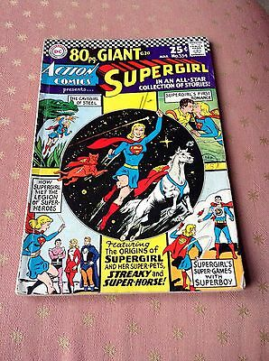 Action Comics Supergirl 80 Page Giant Comic No 334 March 1966