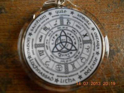 Wheel of the Year Round Keyring