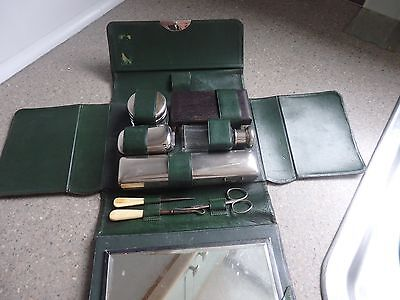 Vintage Gent's Grooming Set in Leather Case