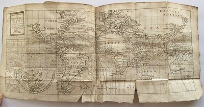 1705 Map of The Whole World - North America - Capt. Halley