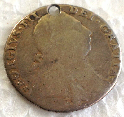 1787  george III  925 Sterling Silver  coin   #97