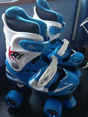 Blue Kids XR-1 Adjustable Quad Skates UK 13-3