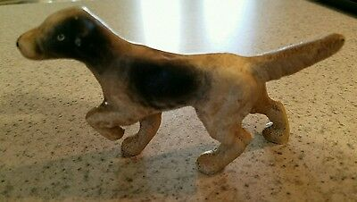 Cast Iron English Setter Pointer Hunting Dog Figurine Paperweight