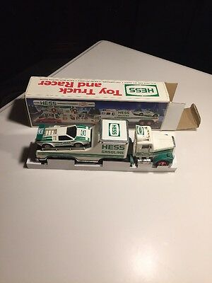 1991 Hess Toy Truck And Racer In Box