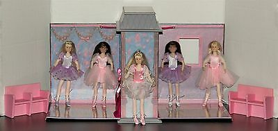 Only Hearts Club Ballet Studio & Theater plus 5 Dolls w/Ballet Outfits EUC