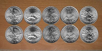 2012 National Park Quarters  P& D Yearly Uncirculated coin set