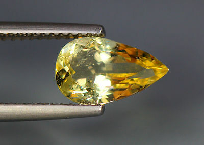 1.52 Cts_Wow !! Amazing Brazilian Gemstone_100 % Natural Heliodore Yellow Beryl
