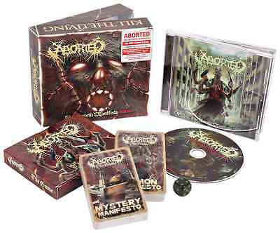 ABORTED - The Necrotic Manifesto BOXSET Card game die Limited Edition BOX rare