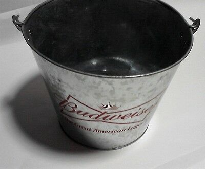 "Budweiser party tub 7"" tall ice bucket man cave bar decor Great American Lager"