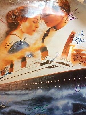 Incredible Titanic Film Poster signed by cast plus Celine Dion & James Cameron