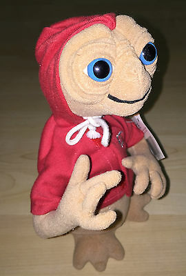 E.T Alien Soft Toy in RED HOODY Extra Terrestrial Universal Studios 20cm + Tag