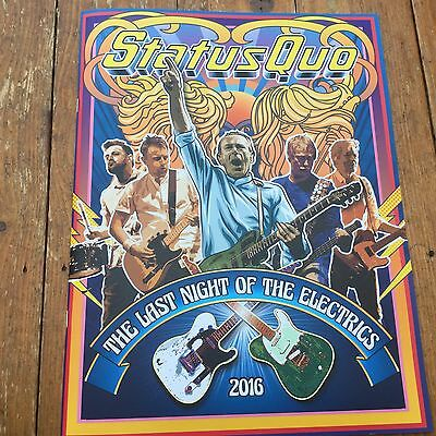 Status Quo The night of the electrics 2016 tour programme