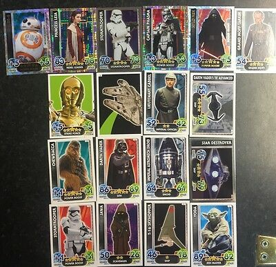 Star Wars Topps Force Attax 18 Game Trading Cards With 2 Limited Edition Cards