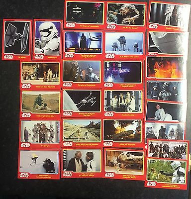 Star Wars 26 Topps Journey To Star Wars The Force Awakens Trading Cards