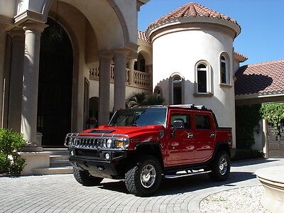 2005 Hummer H2 SUV FLORIDA, H2 SUT, RED, CHROME, REAR TVs, NAVIGATION, AWESOME CONDITION