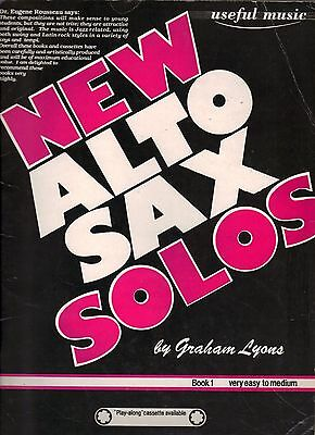 New Alto Sax Solos By Graham Lyons